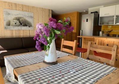 chalet chantermerle - Cuisine-salon Orée du bois