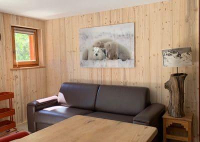 Appartement vers Chantemerle - Salon Orée du bois